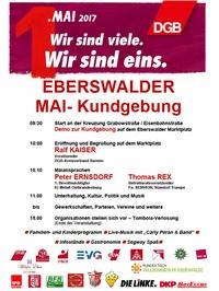 1. Mai 2017 in Eberswalde