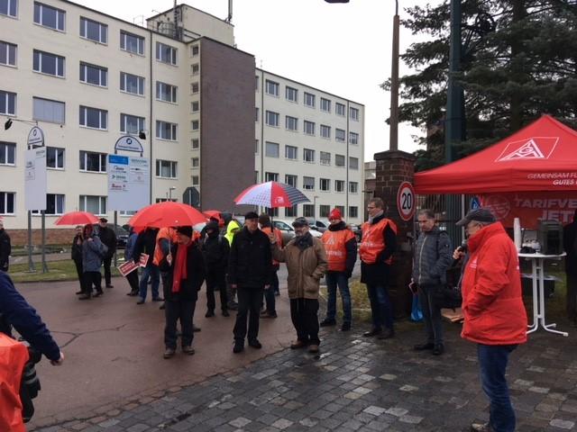 Warnstreik Kranbau Eberswalde
