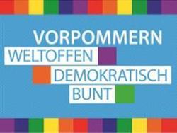 Logo Bündnis Vorpommern: weltoffen, demokratisch, bunt