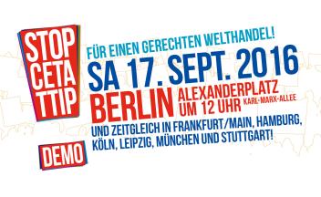 17.9.16 TTIP Demo Berlin Alexanderplatz