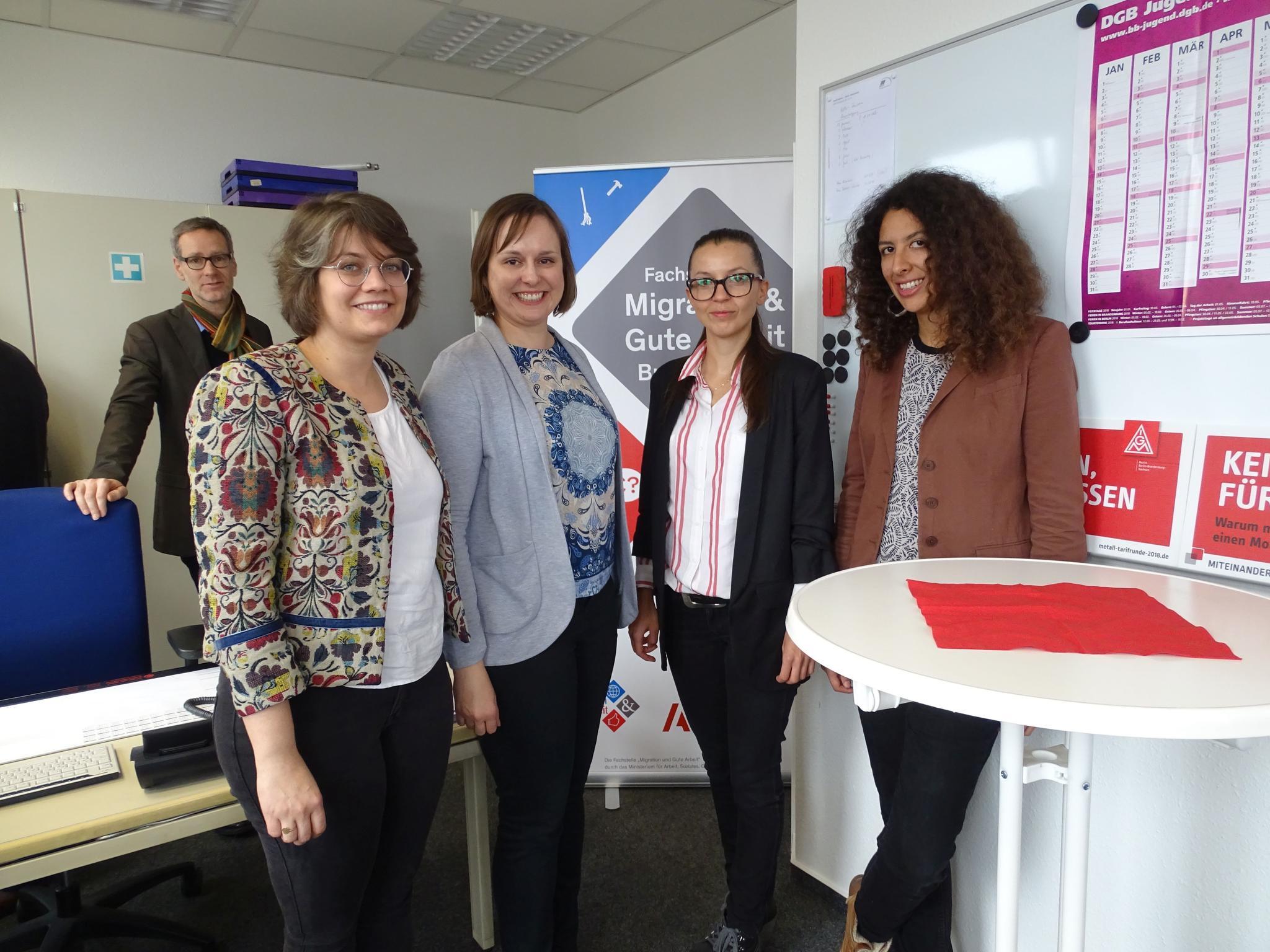 Eröffnung Fachstelle Migration und Gute Arbeit Brandenburg beim DGB Ostbrandenburg in Frankfurt (Oder)