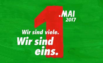 Plakat 1.. Mai 2017 DGB ostbrandenburg