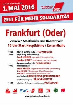 Maiplakat 2016 Frankfurt Oder