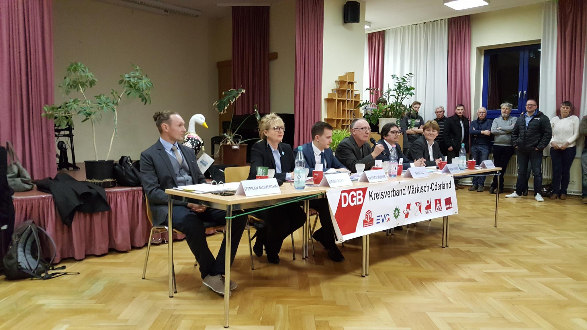 Podium Wahlforum 14.2. Strausberg KV MOL