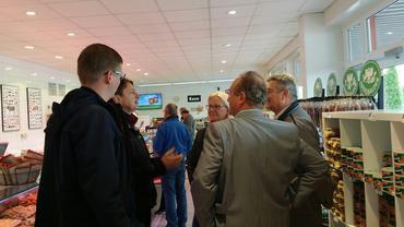 auf rentenpolitscher Tour in Britz bei der Eberswalder Wurst GmbH