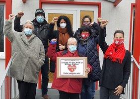 Solidarität mit Haribo in Sachsen