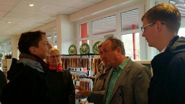 DGB auf rentenpolitscher Tour in Britz bei der Eberswalder Wurst GmbH
