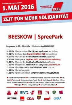 DGB Ostbrandenburg 1. Mai Beeskow
