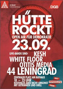 Plakat Hütte rockt 23.9. Demokratie Open Air