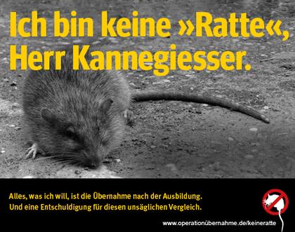 E-Card Azubis sind keine Ratten, Herr Kannegießer