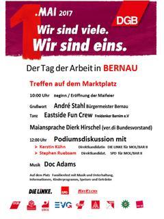 1. Mai Plakat Bernau
