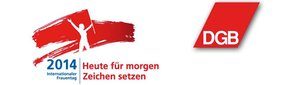 DGB-Motto um Internationelen Frauentag 2014