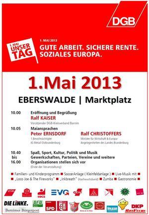 Maiplakat Eberswalde 2013