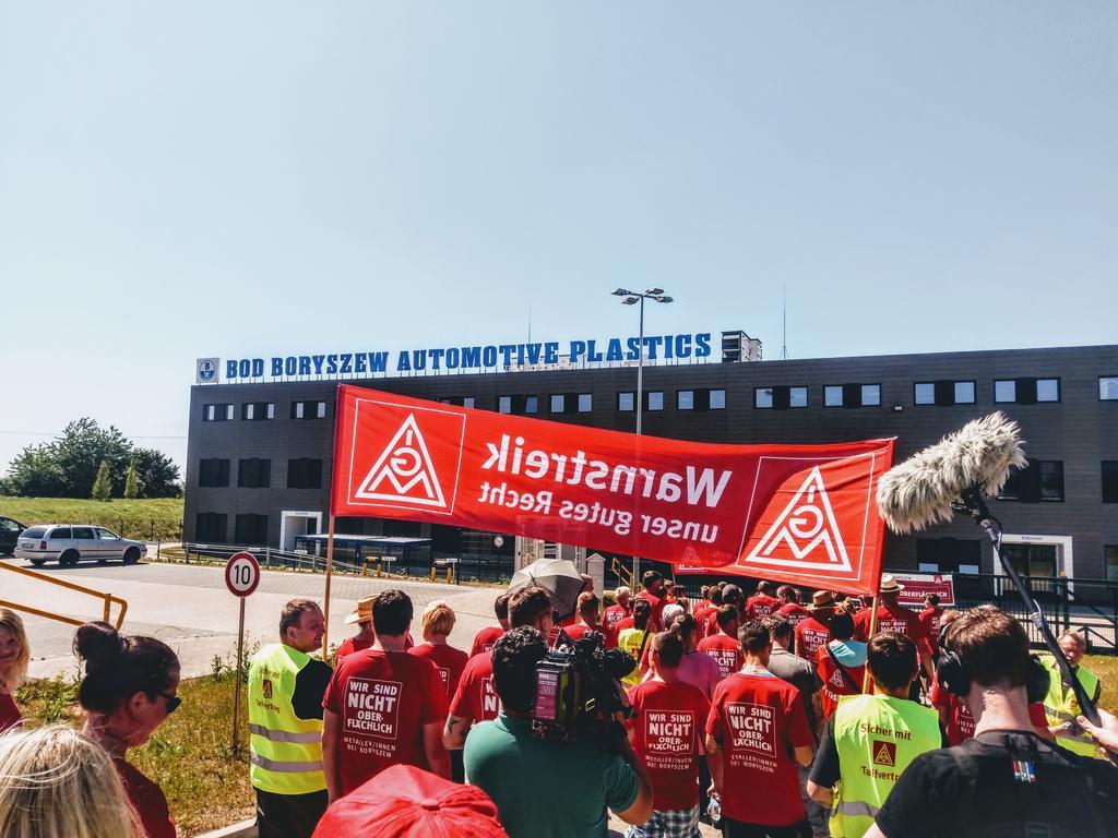 Zweiter Warnstreik bei Boryszew in Prenzlau