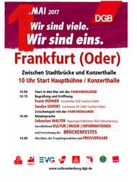 programm 1.mai 2017 DGB Frankfurt (Oder)
