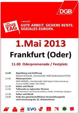 Maiplakat Frankfurt Oder 2013