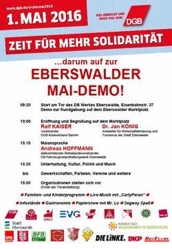 Maiplakat 2016 Eberswalde