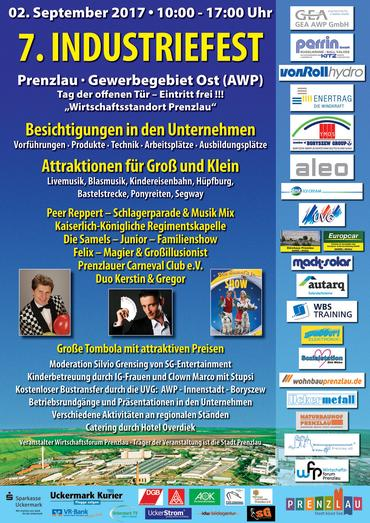 Plakat industriefest Prenzlau 2017